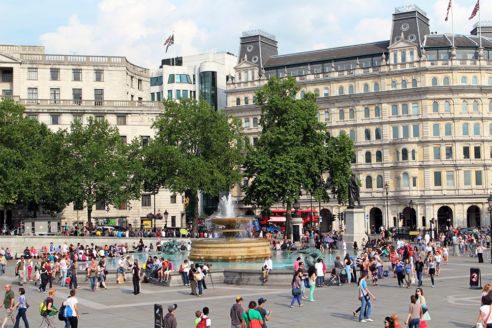Trafalgar Square   London for free: places to visit and things to do