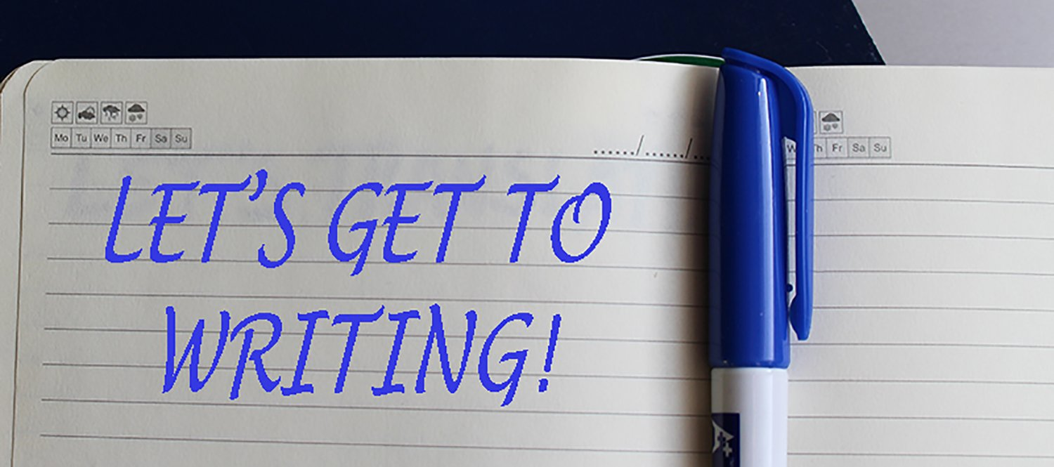 Let's get to writing!