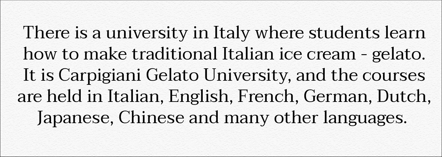 Did you know that? Carpigiani Gelato University