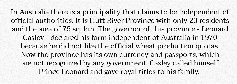 Hutt River Province in Australia