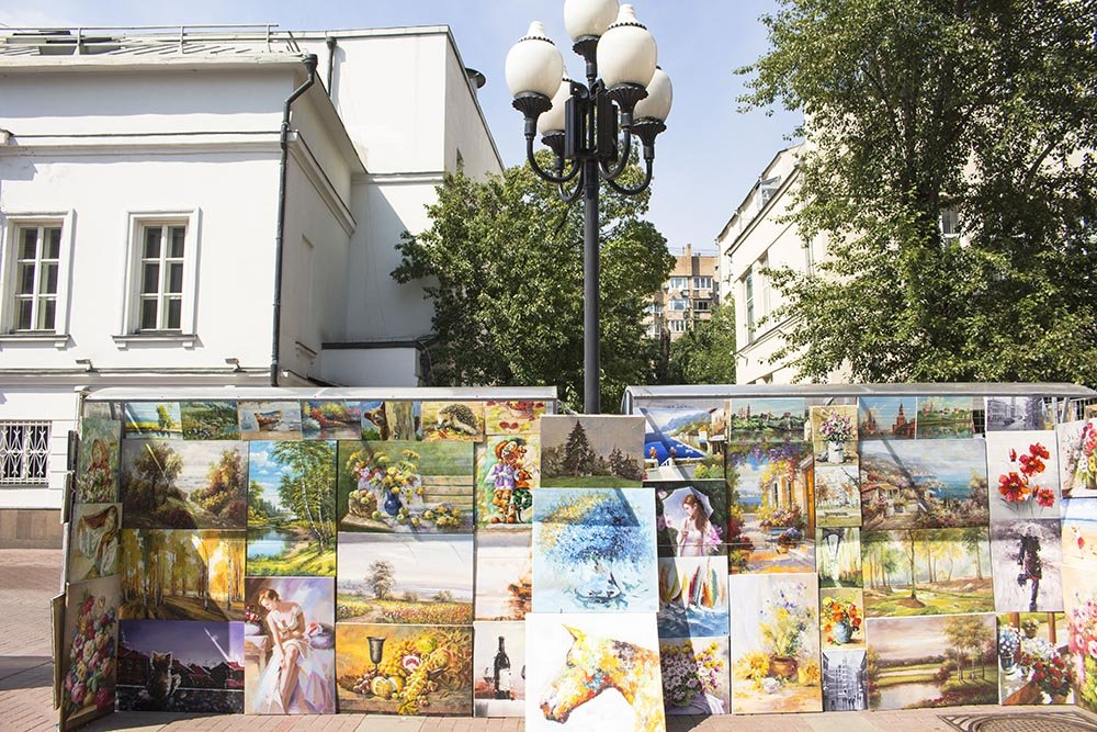 How to spend a perfect day in Moscow | Paintings in Arbat