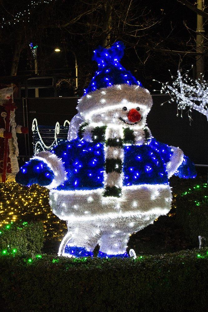 Snowman at Christmas fair