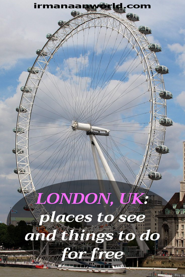 Places to see and things to do for free in London, UK   Places to visit for free in London, UK   What to see in London, UK, for free