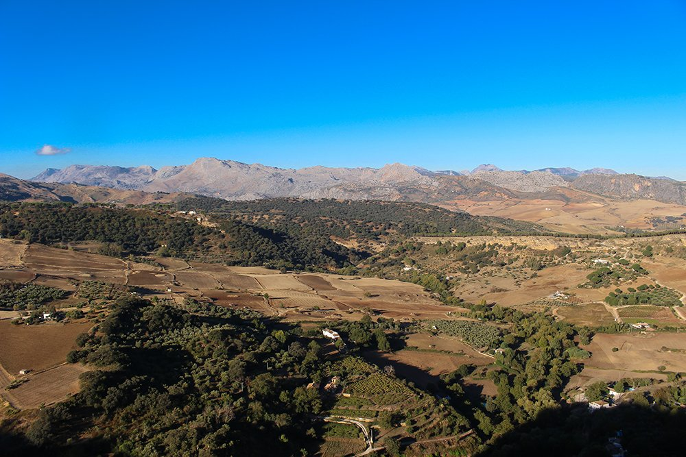 3 weeks of solo travel in Spain, Part 5: 1 day trip to Ronda | View from the Alameda el Tajo Park
