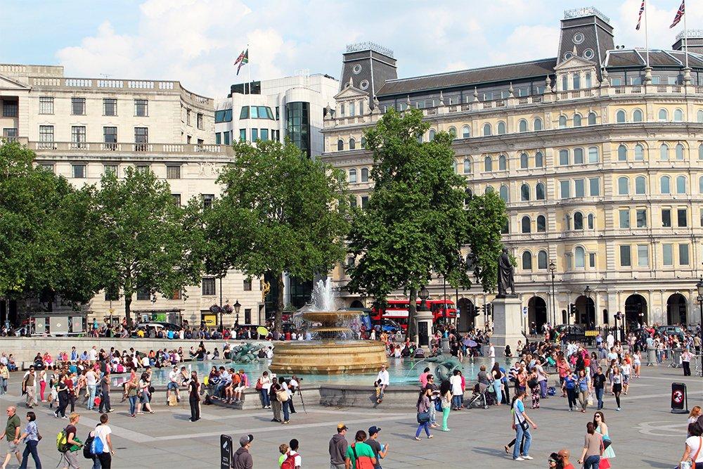 Бесплатные достопримечательности Лондона | Трафальгарская площадь