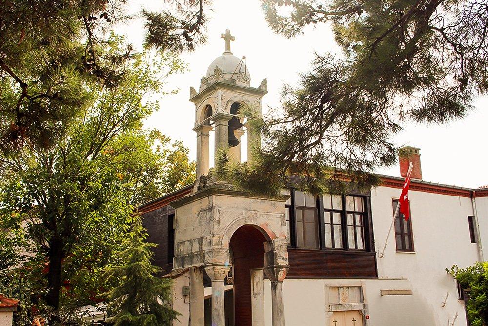 Один день на Бююкада, Принцевы острова, Стамбул   Церковь Святого Георгия