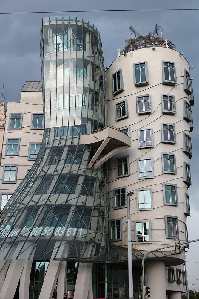 Dancing House in Prague, CzechRepublic