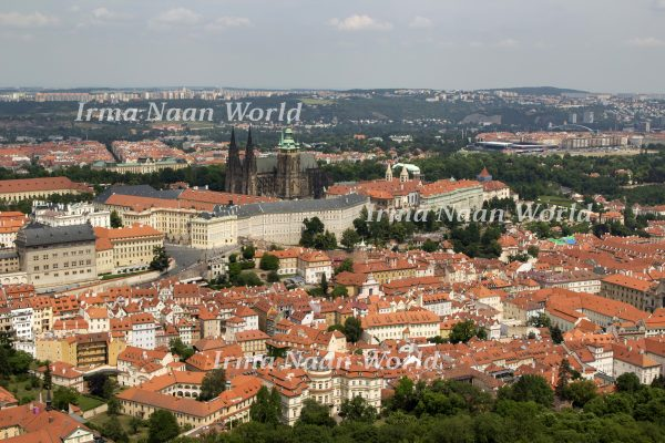 View of Prague from above