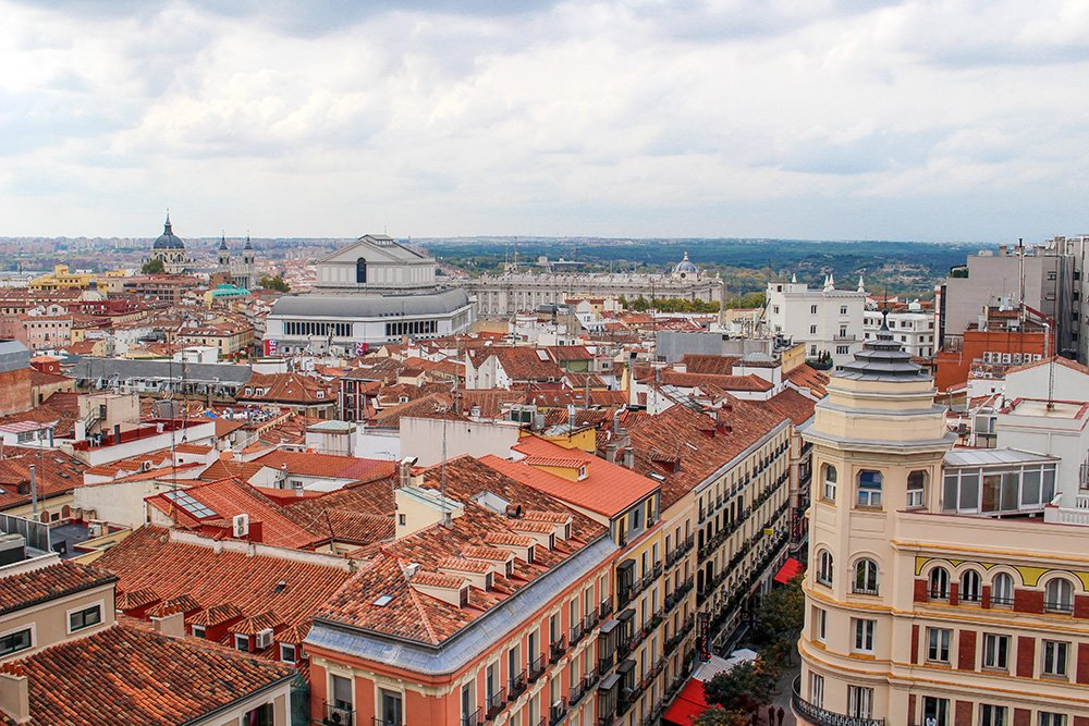 Free things to do in Madrid, Spain | View from El Corte Ingles