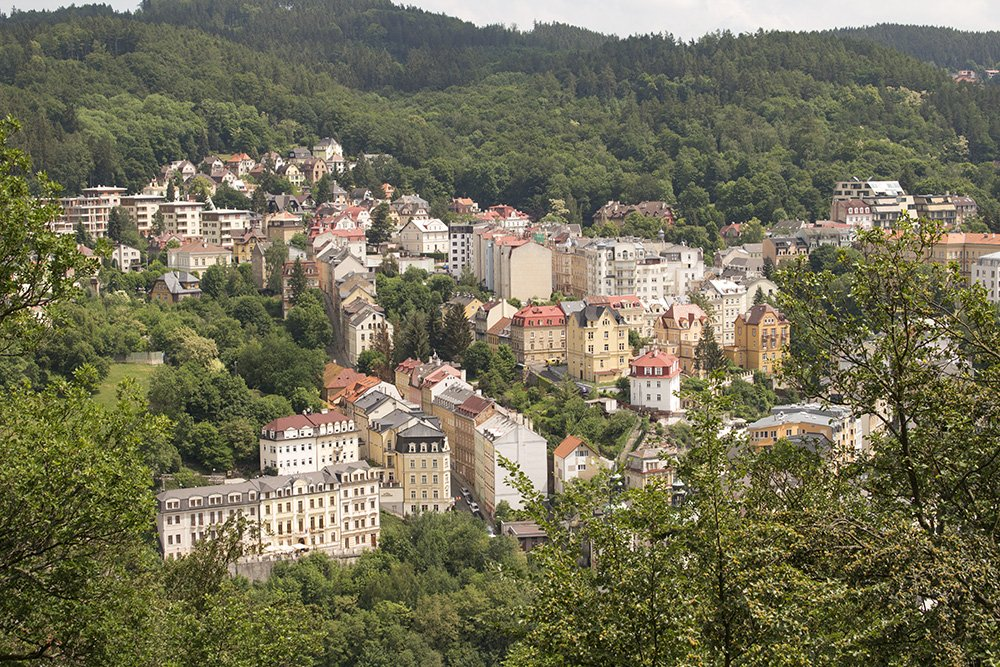 A day trip from Prague: what to do in Karlovy Vary | View from Jeleni Skok
