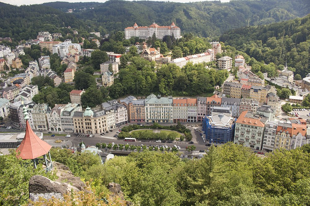 A day trip from Prague: what to do in Karlovy Vary | View from Peter's Height