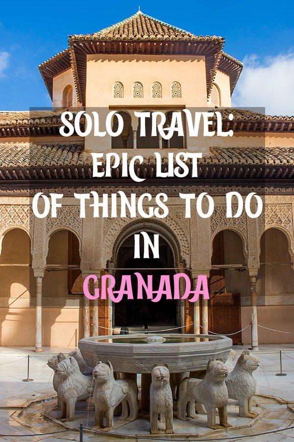Solo Travel in Spain: things to do in Granada | Places to see in Granada, Spain | What to see in Granada, Spain | Things to see in Granada, Spain | What to do in Granada, Spain