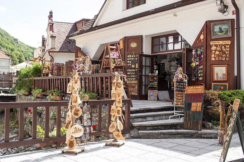 From Prague to Karlstejn Castle, Czech Republic   A souvenir shop in Karlstejn