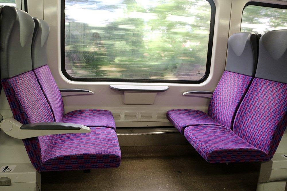 From Prague to Karlstejn Castle, Czech Republic   In the train to Karlstejn