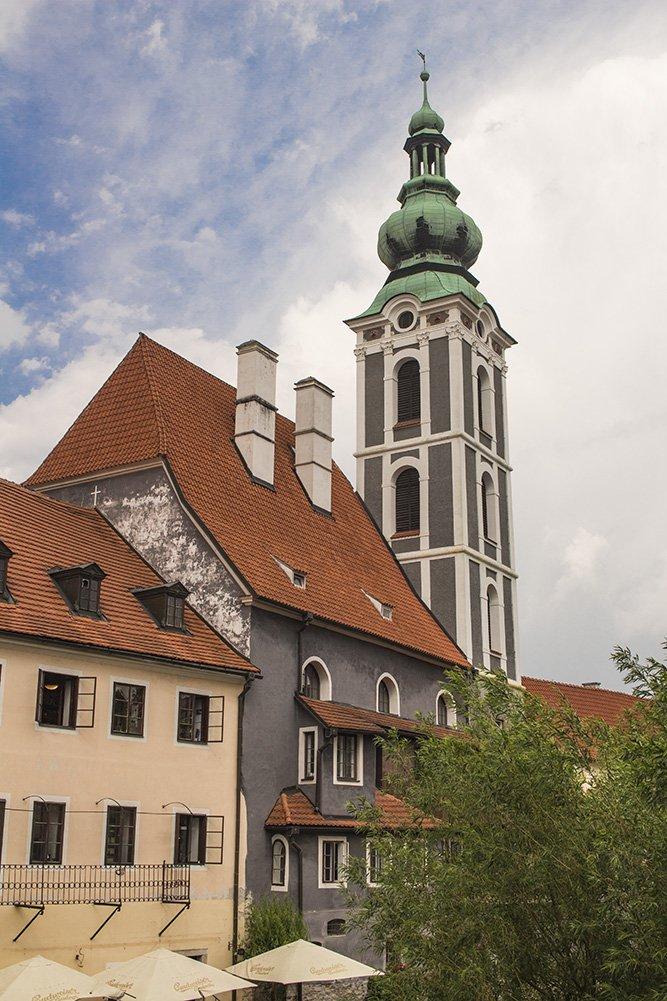 A day trip from Prague to Cesky Krumlov Castle | St Jost Church