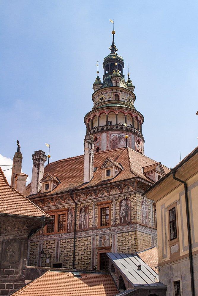 A day trip from Prague to Cesky Krumlov Castle | The Tower of Cesky Krumlov Castle