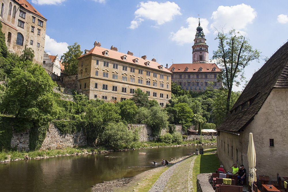 A day trip from Prague to Cesky Krumlov Castle | View of Cesky Krumlov Castle from the island