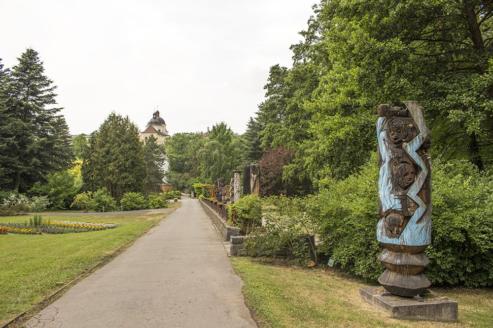 Things to do in Olomouc, Czech Republic, in half a day | Wooden statues in the botanical garden