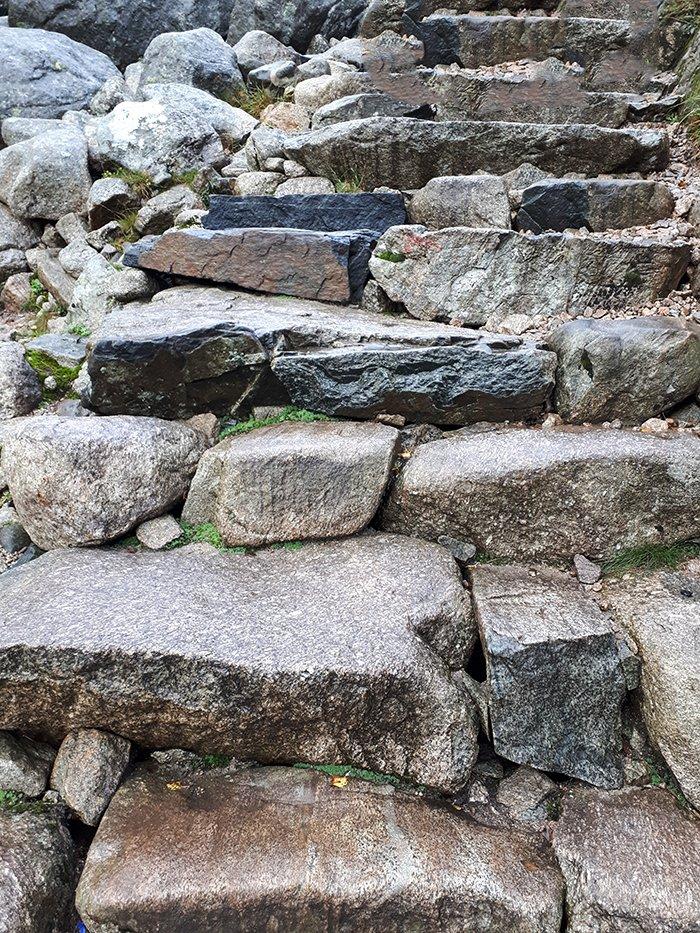 Preikestolen hike   Stone steps at Preikestolen