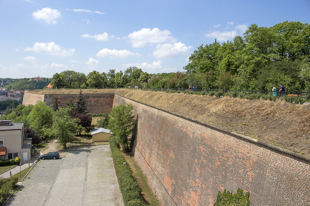 The walls of Vysehrad in Prague