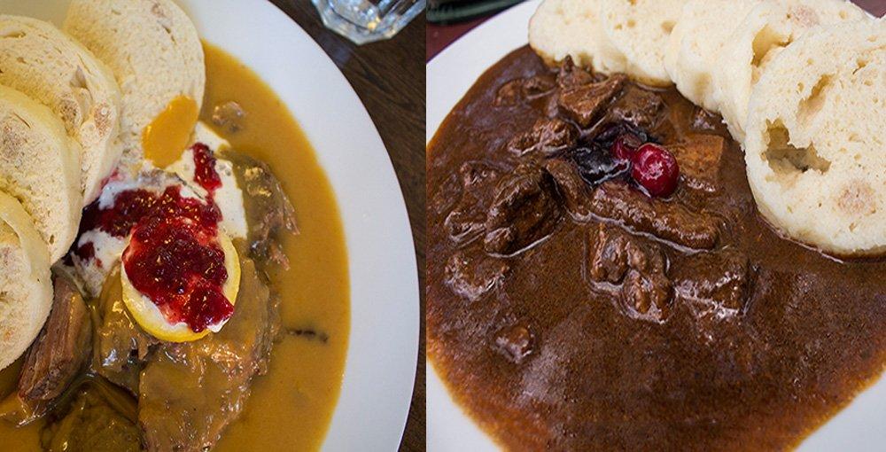 Чешская кухня: Свичкова и гуляш