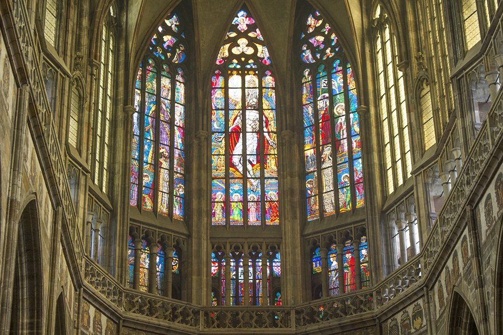 Внутри собора Святого Вита в Праге