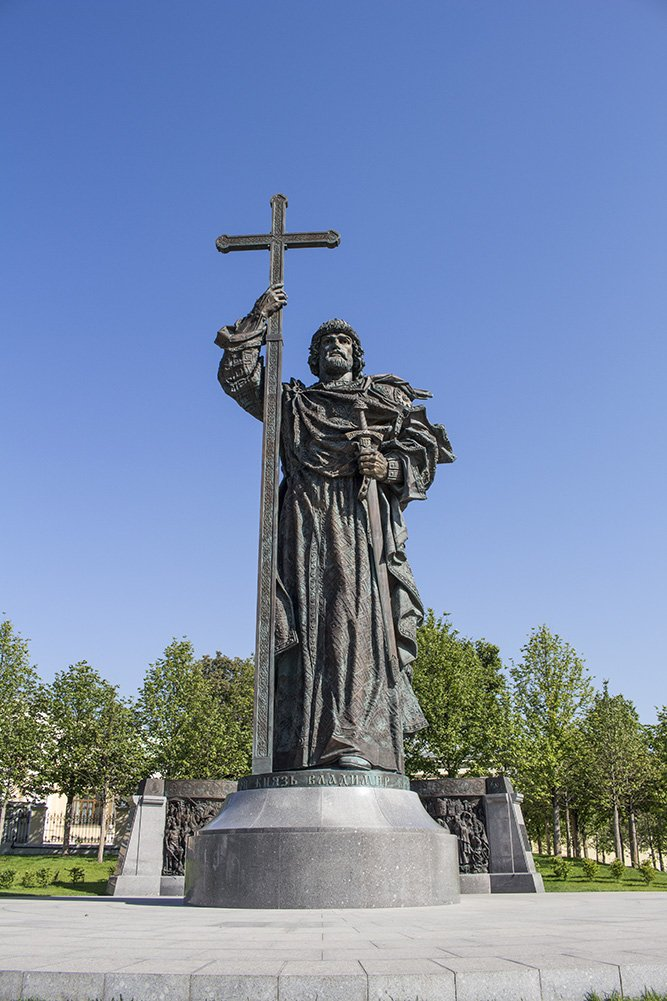 Statue to Vladimir at the Kremlin in Moscow