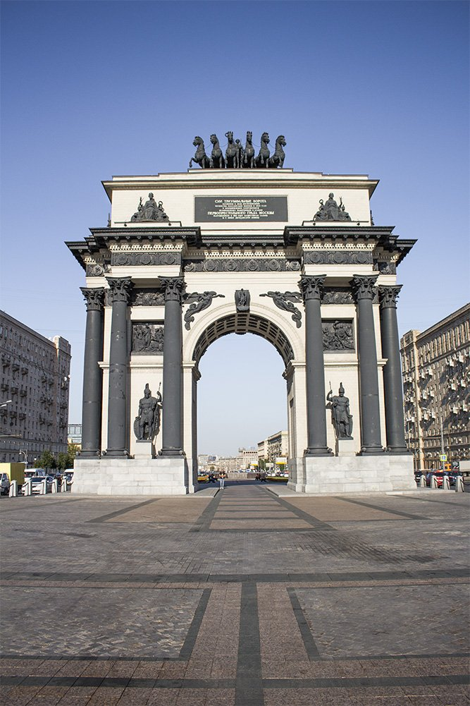 The Arch of Triumph in Moscow