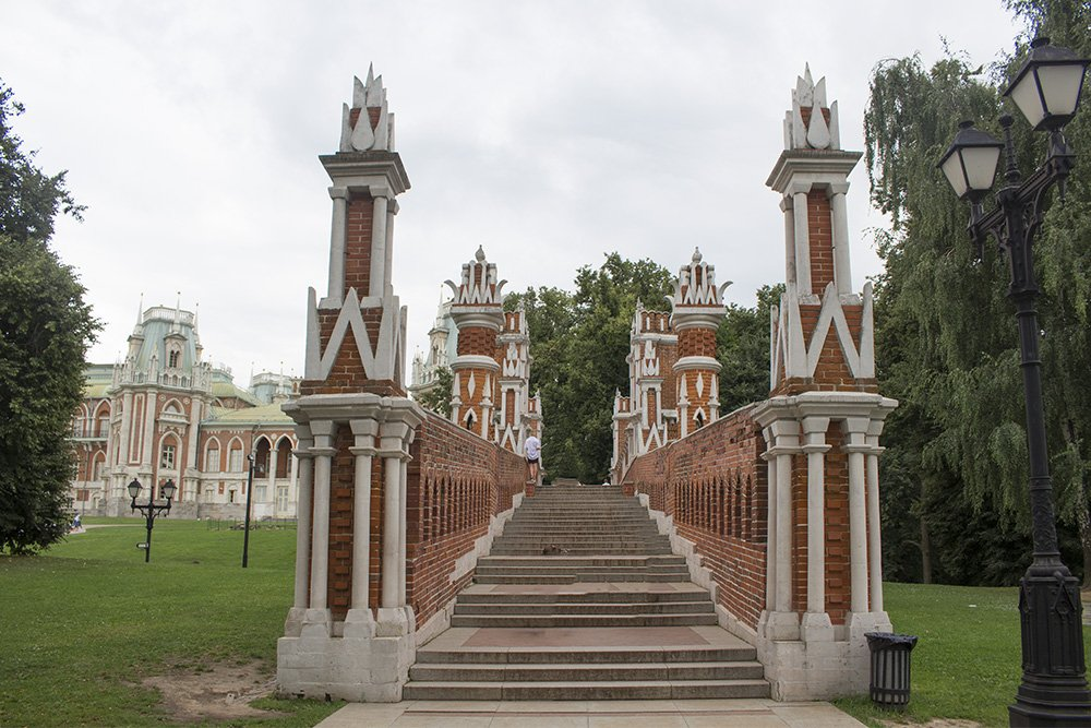 The Figure Bridge in Tsaritsyno in Moscow