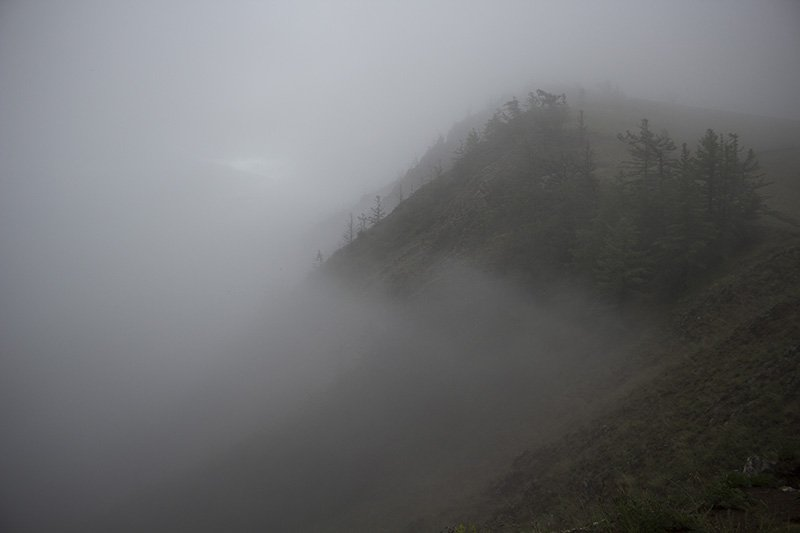 Fog on Olkhon Island