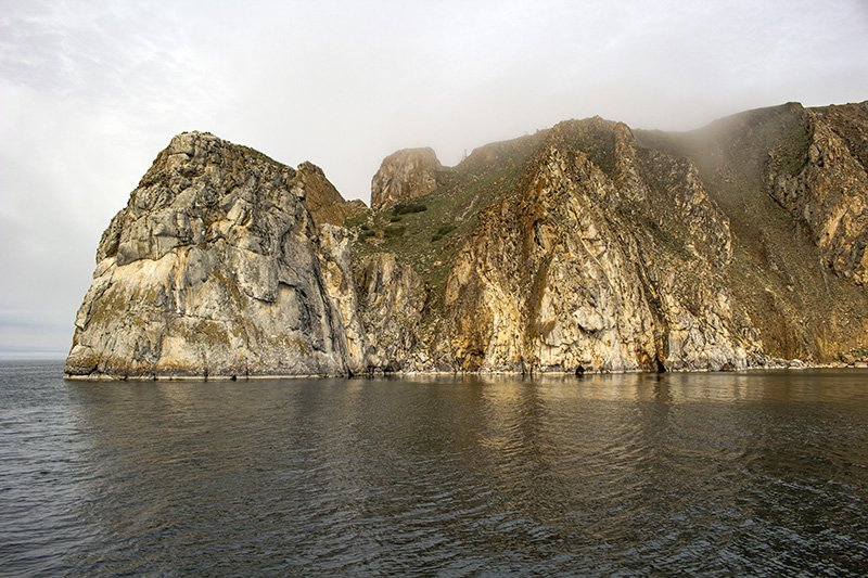 Rocky shores of Olkhon Island