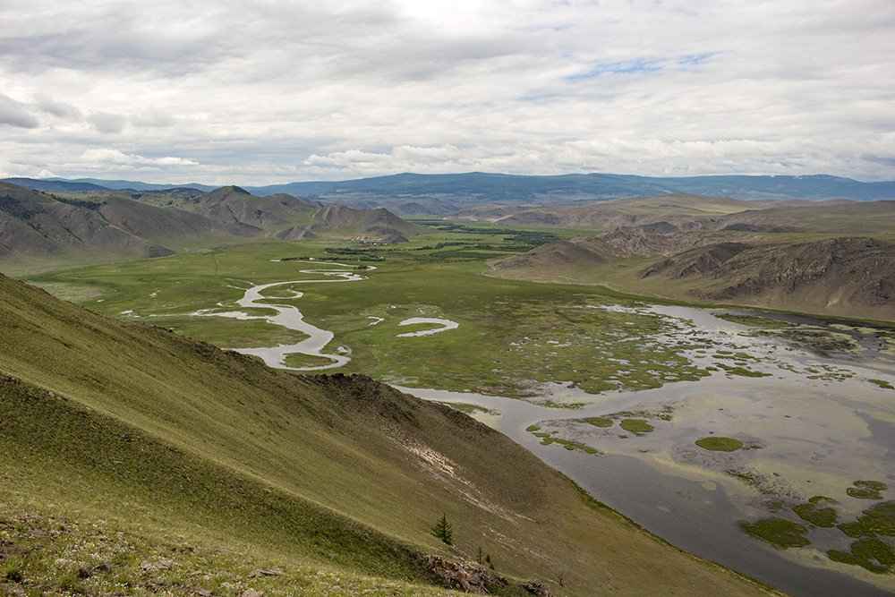 Tazheran Steppe from above
