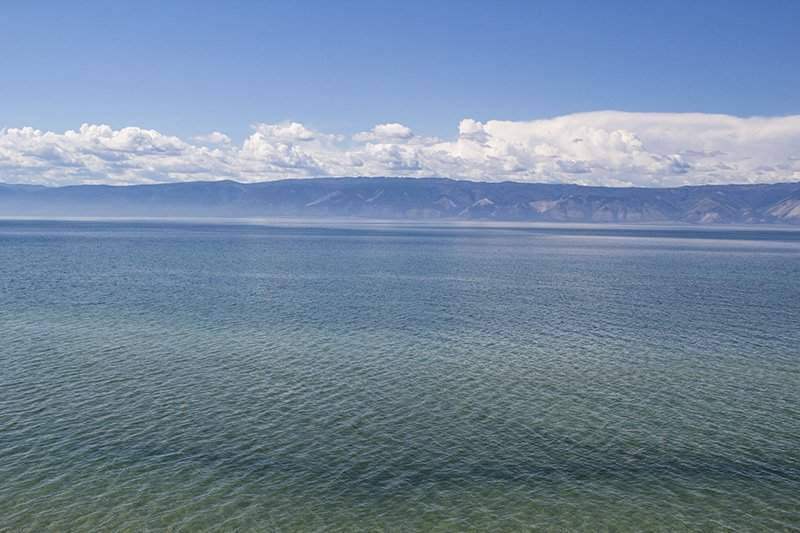 The waters of Baikal Lake
