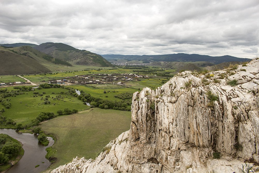 The whitish part of Sakhyurte Mountain