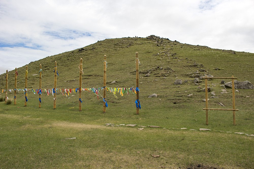 The sacred Yehe Erdo Mountain in Tazheran Steppe