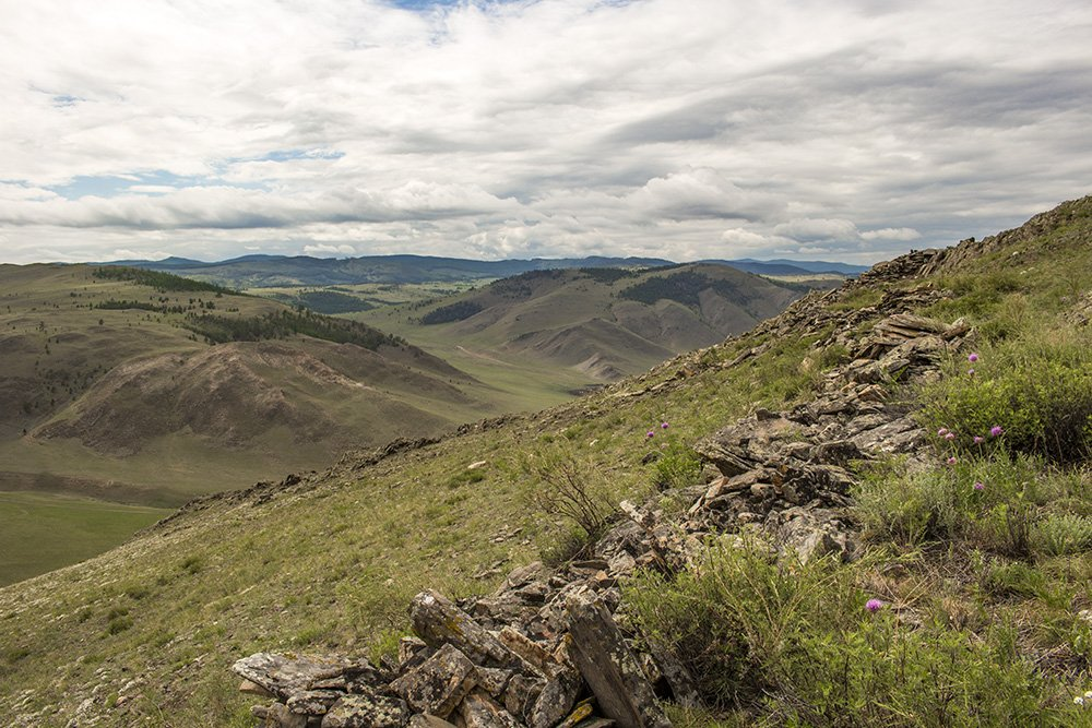 the view of Tazheran Steppe from Shebeta Mountain
