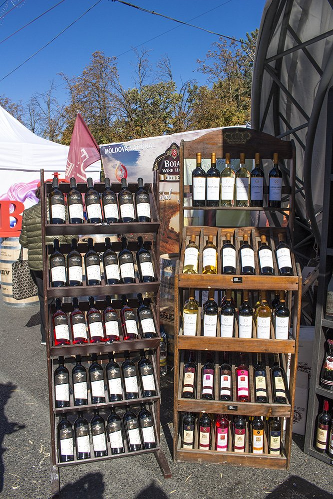 Wine at the festival in Chisinau