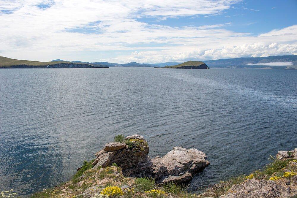 Baby whale island in Baikal
