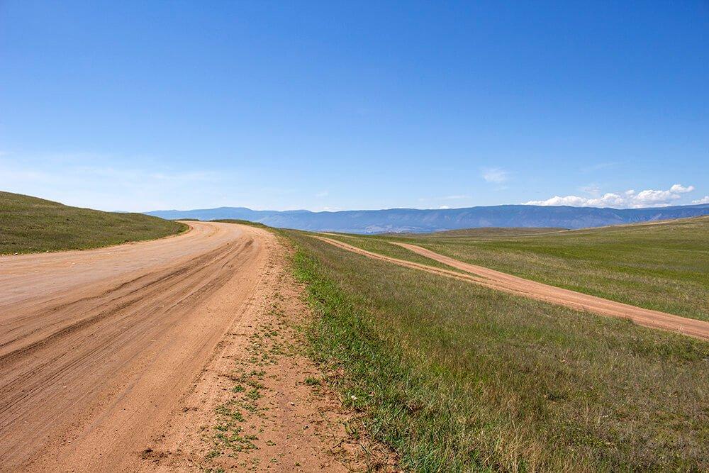 The roads on Olkhon Island