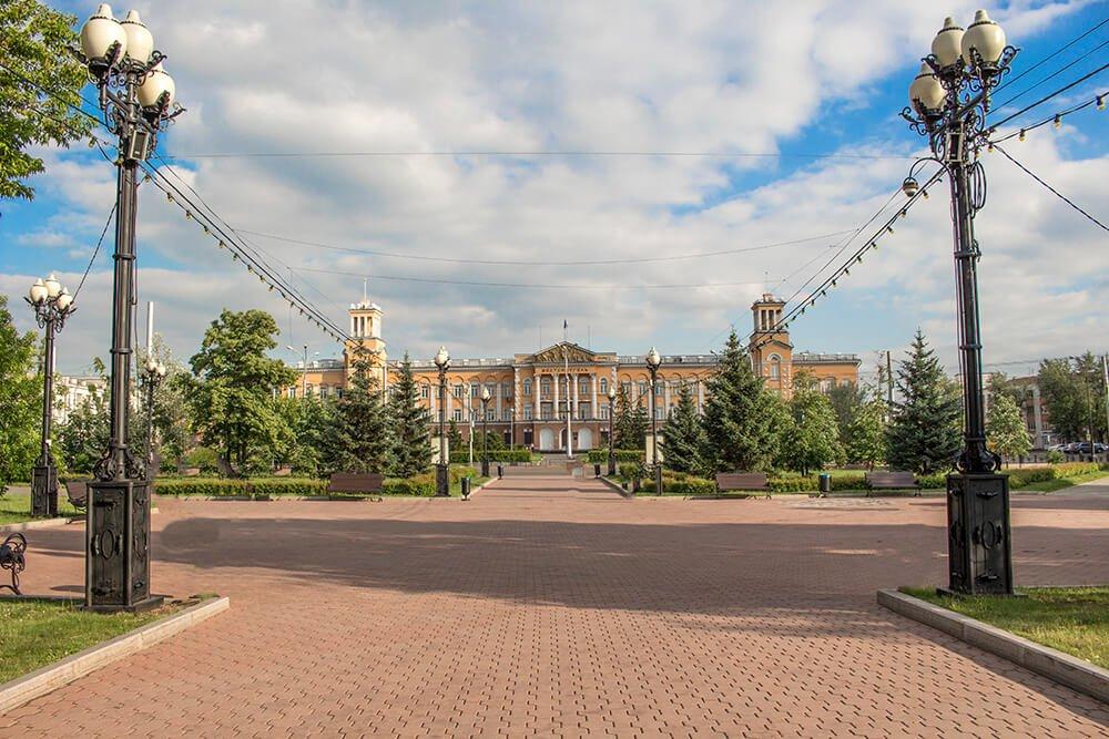 Kirov Garden in Irkutsk, Russia