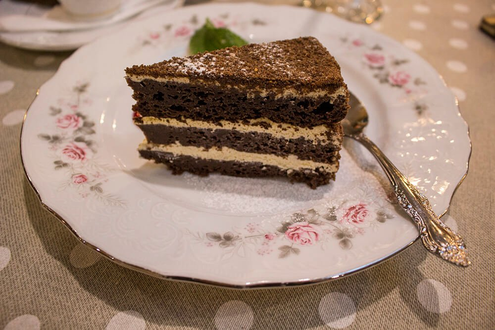 Hagberry cake in Baikal