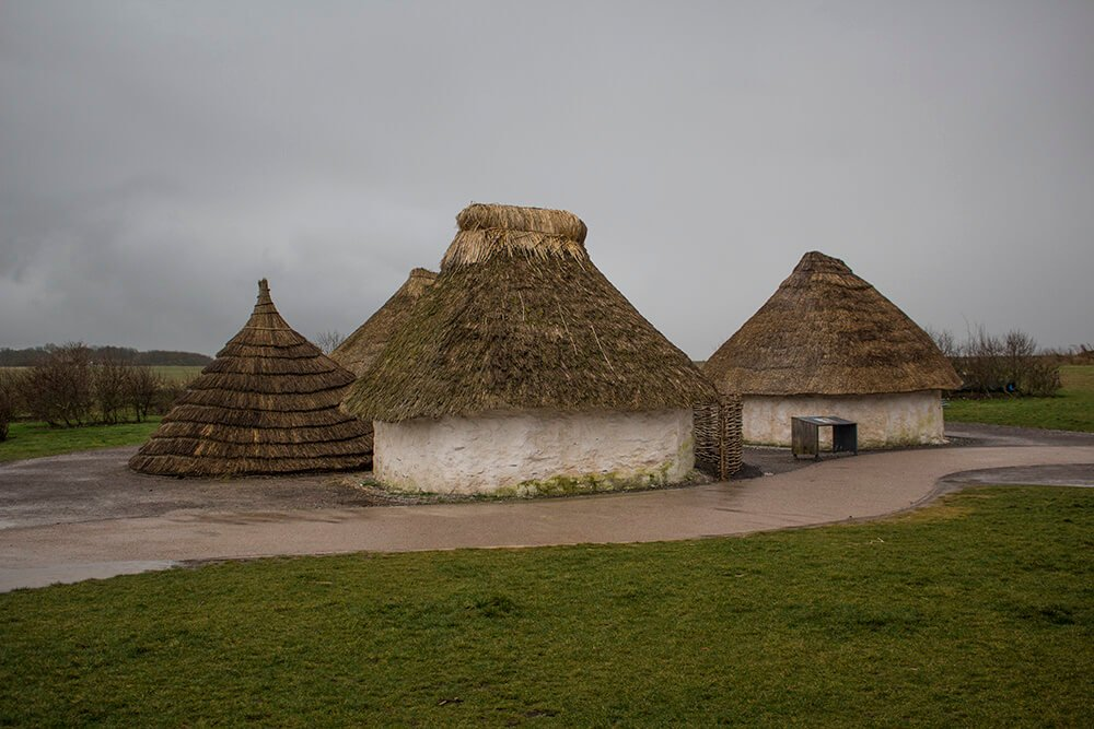 Neolithic homes at the Stonehenge Visitor Center