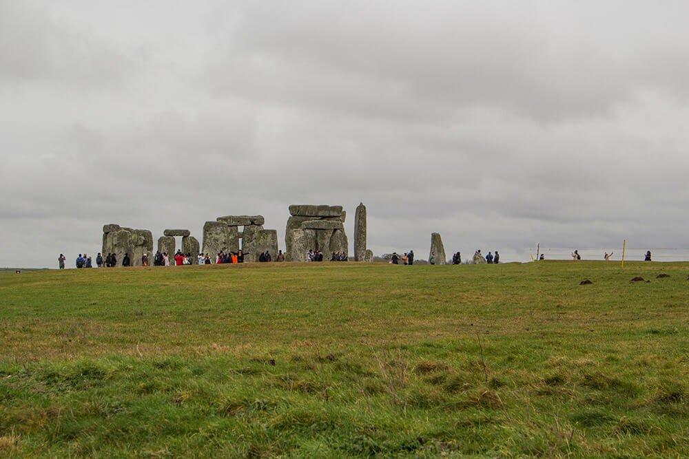 People around Stonehenge