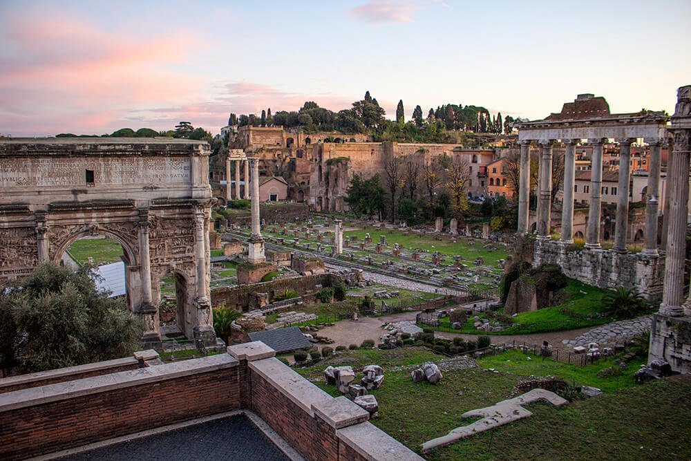 Roman Forum from Via di S. Pietro in Carcere in Rome