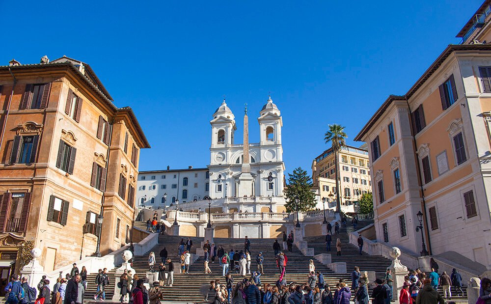 Spanish steps in Rome in December