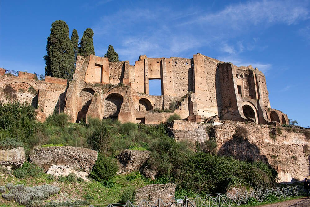The Palatine Hill in Rome, Italy