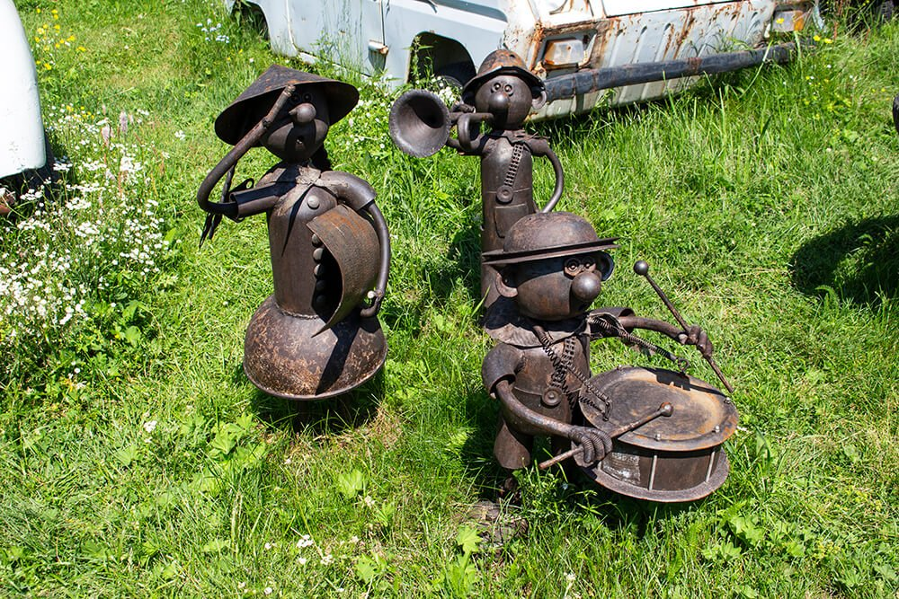 Creations of the blacksmith in the Retro Museum in Listvyanka