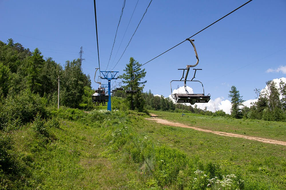 The cable way to Chersky Stone in Listvyanka