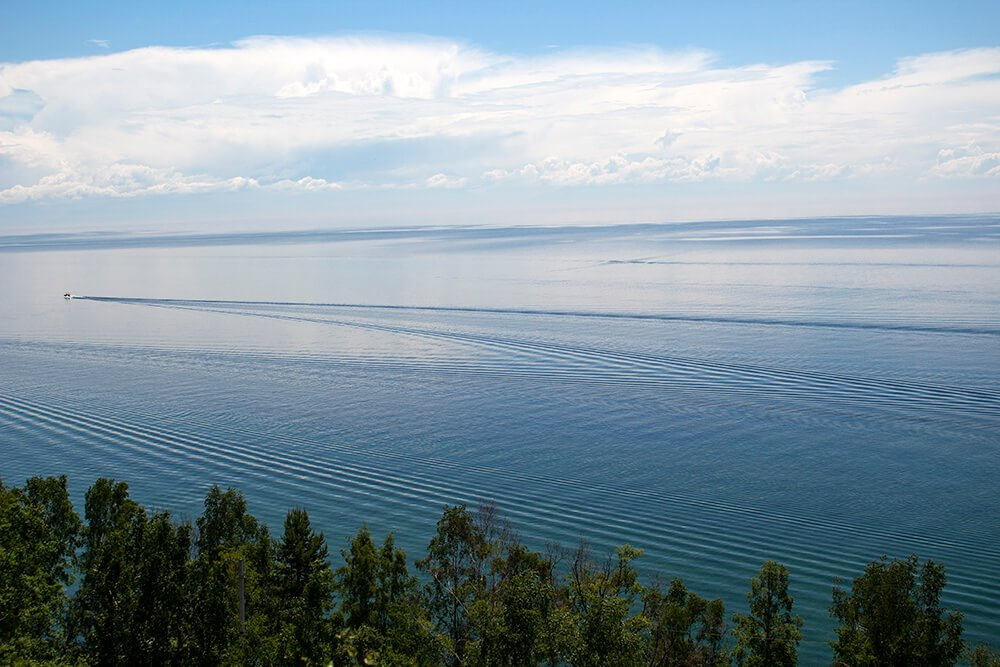 View from the Baikal Museum park in Listvyanka