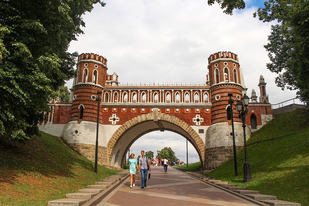 Figure Bridge in Tsaritsyno, Moscow